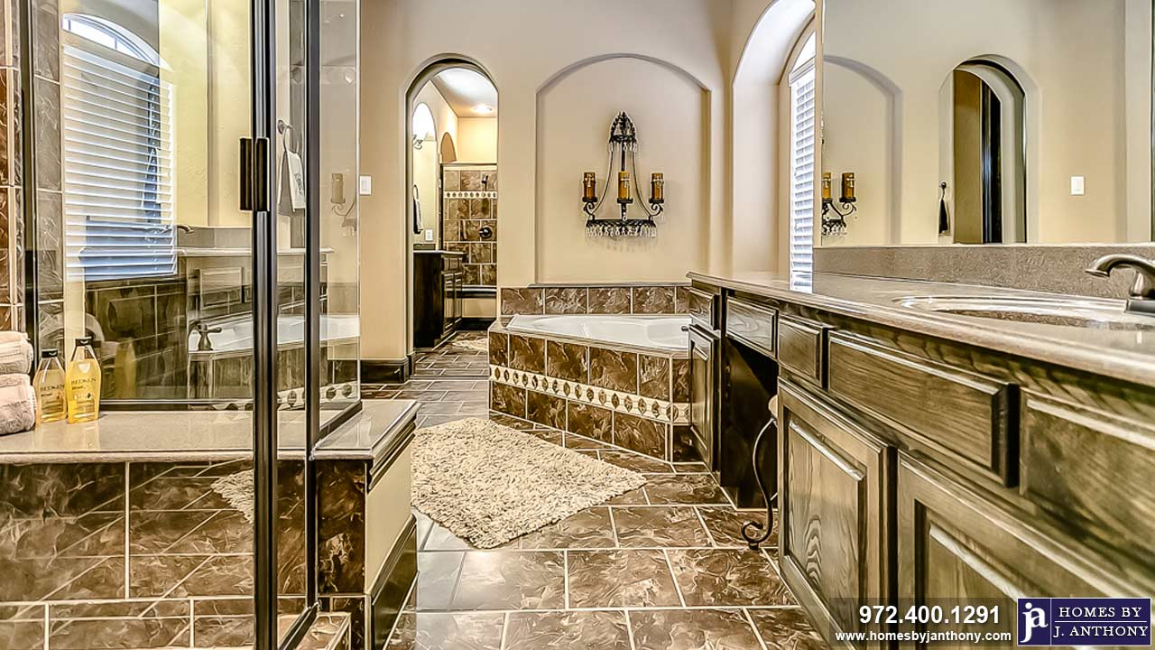 Baths and Showers Photo Gallery-Homes By J. Anthony-DFW Custom Home Builder