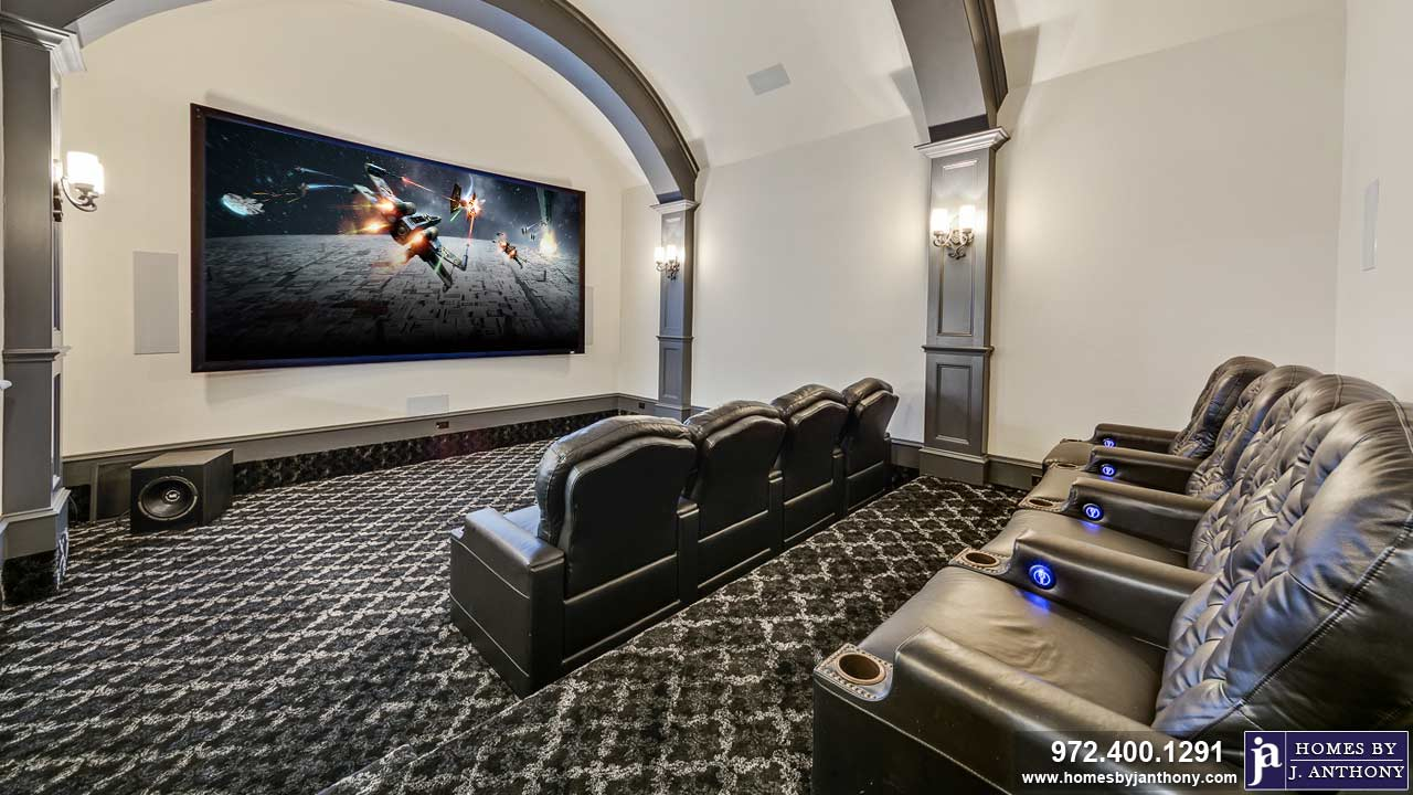 Game-Media-Beverage Rooms Photo Gallery-Homes By J. Anthony-DFW Custom Home Builder