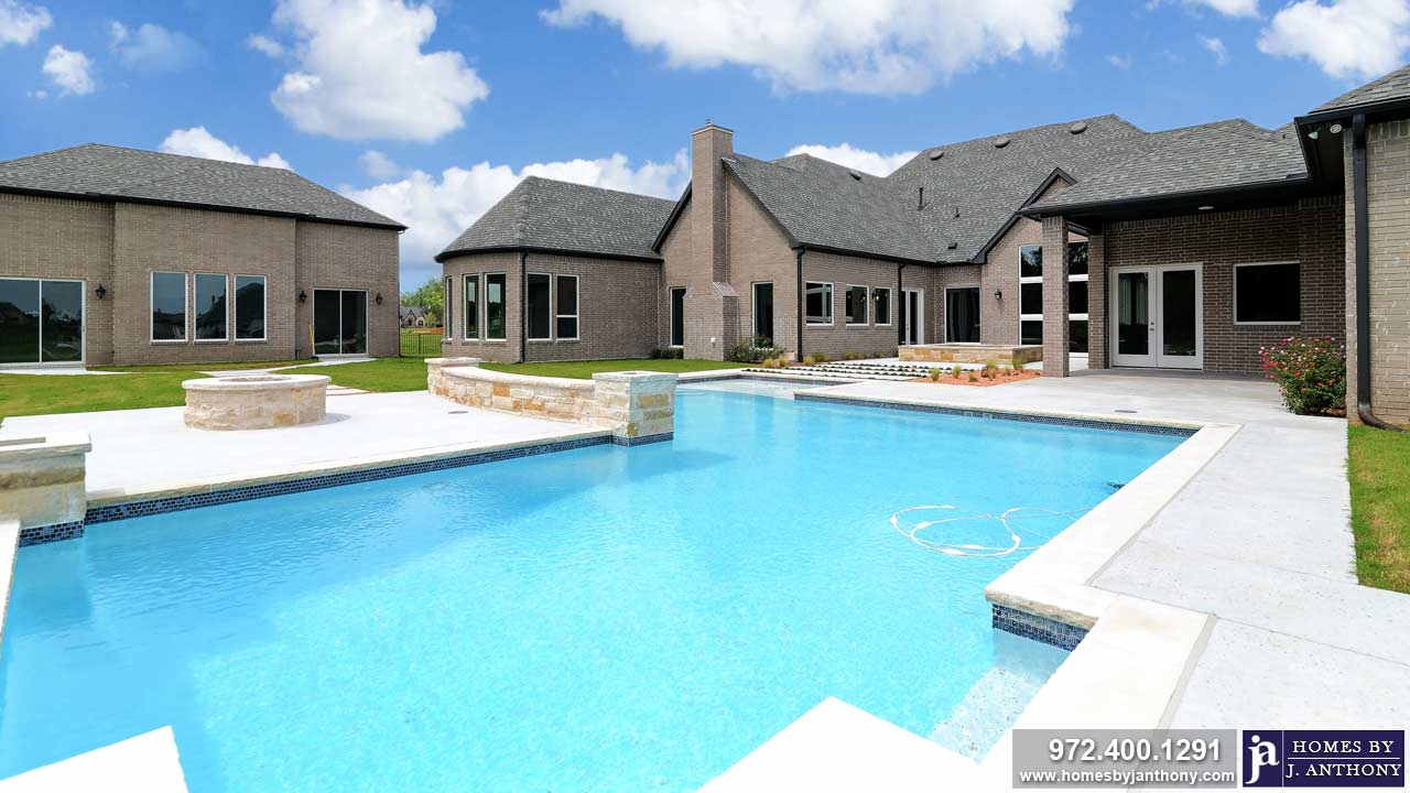 Pools Photo Gallery-Homes By J. Anthony-DFW Custom Home Builder