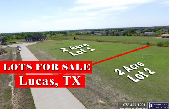 Homes By J Anthony offers Premier lots for home construction in Lucas TX
