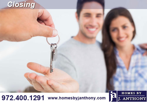 Homes By J. Anthony Custom Home Closing