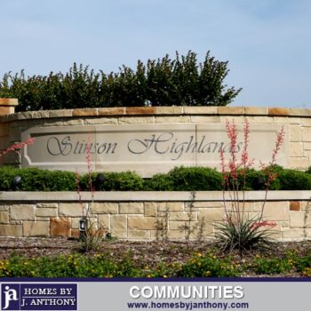 Stinson Highlands Community in Lucas TX- Homes By J. Anthony-DFW Custom Home Builder