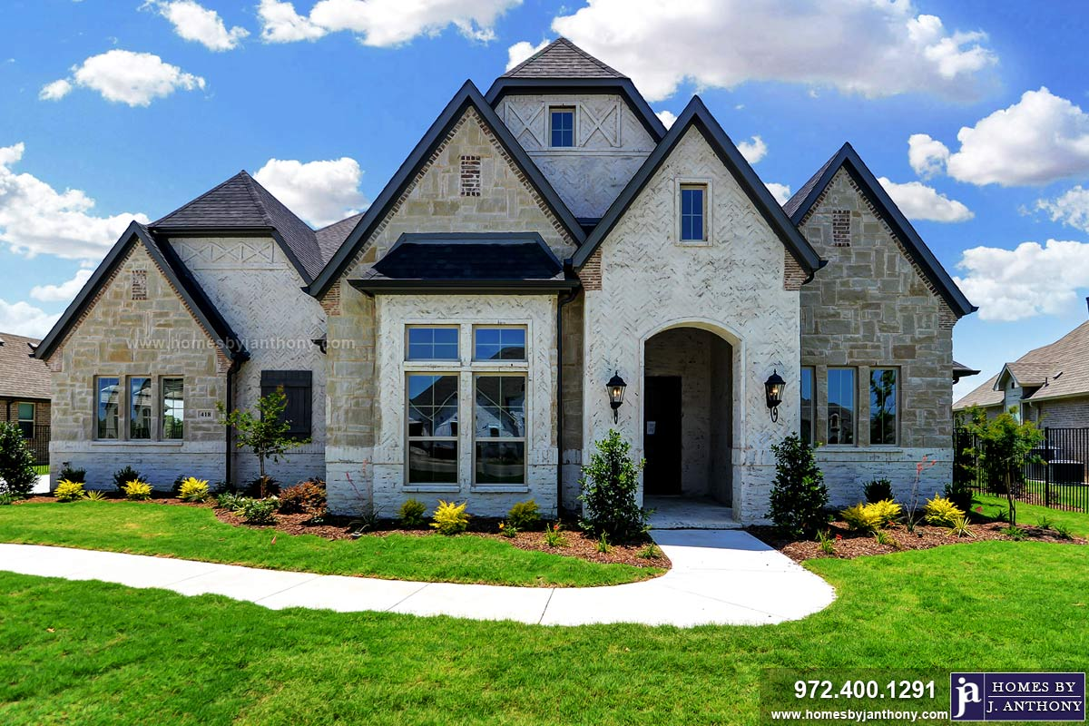 Custom Homes in Brockdale Estates Community Lucas Tx completed by Homes By J. Anthony-DFW Custom Home Builder