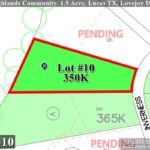 Lot For Sale (Lot#10, Lovejoy ISD)-Homes By J Anthony offers Premier lots for home construction in Lucas, TX, Stinson Highlands Community