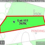 Lot For Sale (Lot#11, Lovejoy ISD)-Homes By J Anthony offers Premier lots for home construction in Lucas, TX, Stinson Highlands Community
