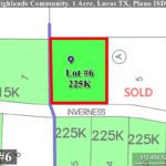 Lot For Sale (Lot#6, Plano ISD)-Homes By J Anthony offers Premier lots for home construction in Lucas, TX, Stinson Highlands Community