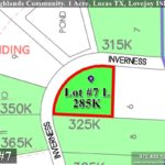 Lot For Sale (Lot#7L, Lovejoy ISD)-Homes By J Anthony offers Premier lots for home construction in Lucas, TX, Stinson Highlands Community