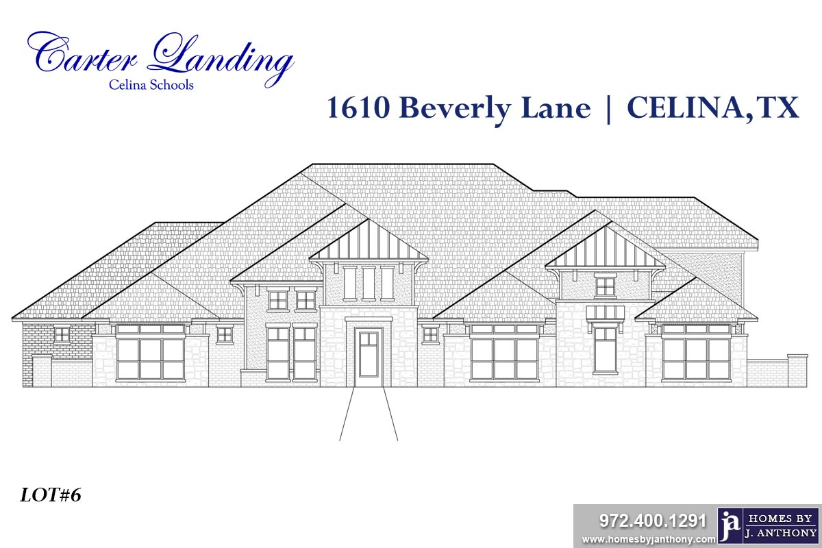 House For Sale (Lot#6 Block 2, Celina ISD)-Homes By J Anthony offers Premier lots for home construction in Celina, TX, Carter Landing Community