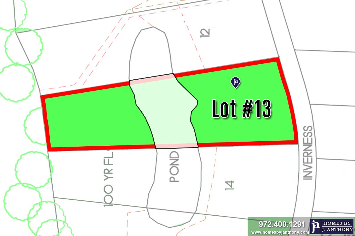 Lot For Sale (Lot#13, Lovejoy ISD)-Homes By J Anthony offers Premier lots for home construction in Lucas, TX, Stinson Highlands Community