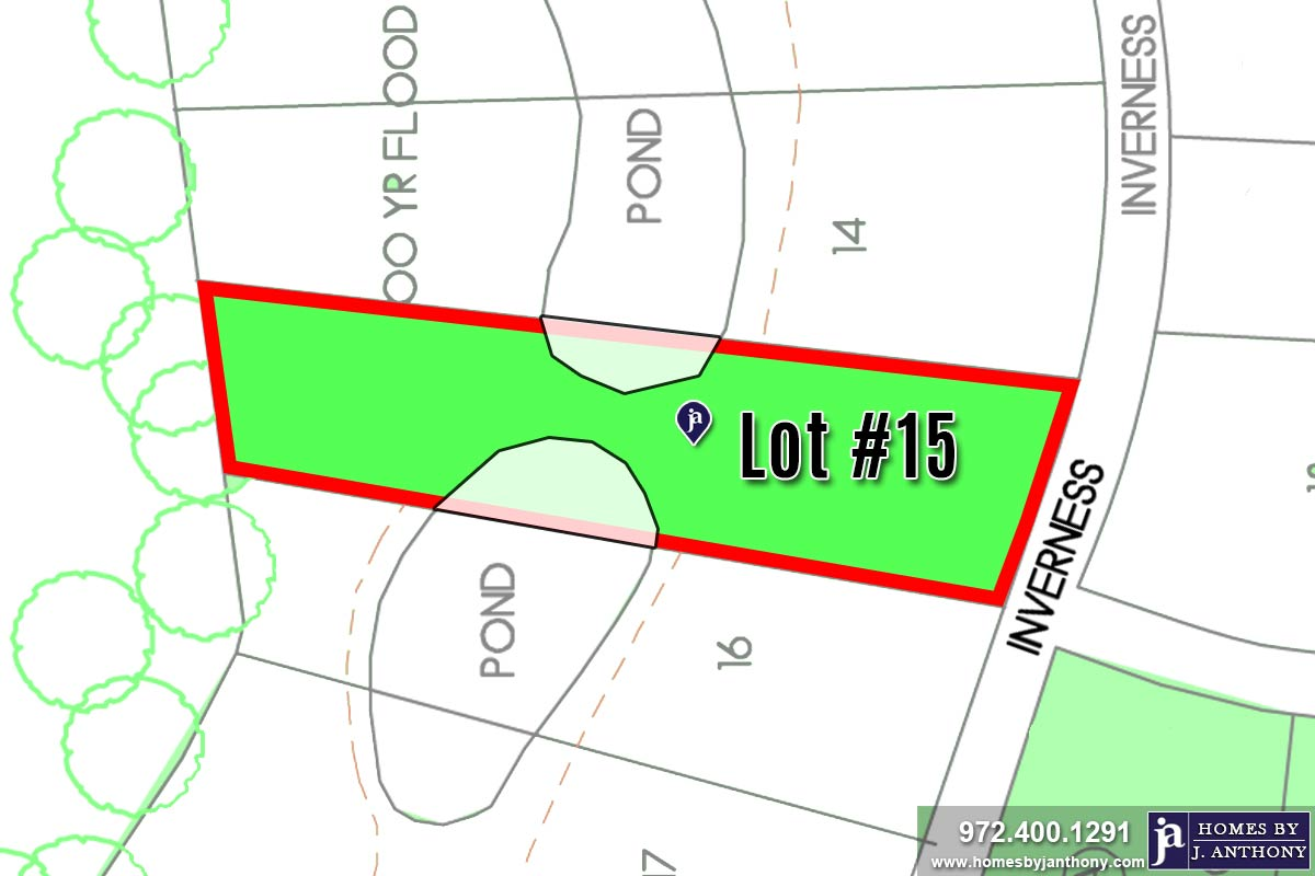 Lot For Sale (Lot#15, Lovejoy ISD)-Homes By J Anthony offers Premier lots for home construction in Lucas, TX, Stinson Highlands Community