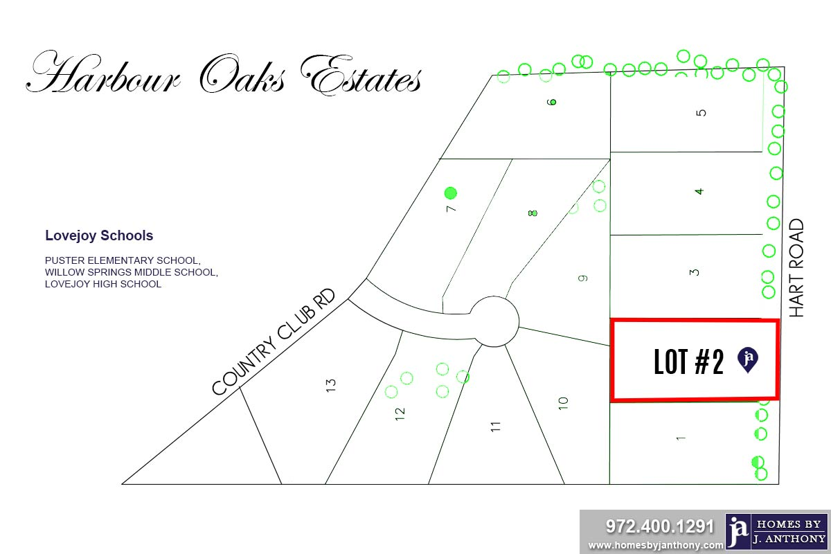 Lot#2-Harbour Oaks Estates Community in Fairview TX- Homes By J. Anthony-DFW Custom Home Builder