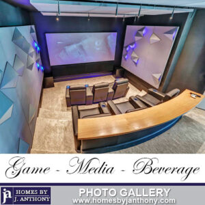 Homes By J Anthony Media rooms Photo Gallery