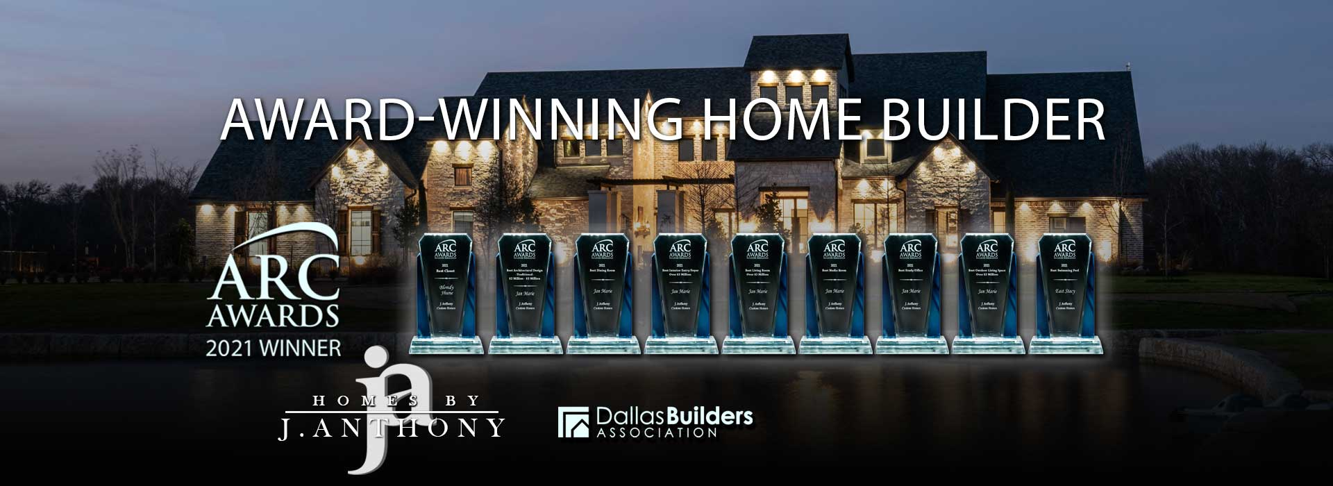 Homes By J. Anthony is 2021 Arc Awards Winner